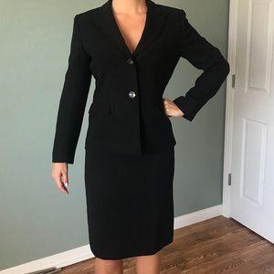 Black Pinstripe Womens Tahari Skirt Suit